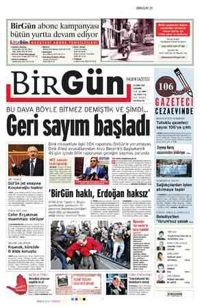 Birgün Gazetesi 22 Şubat 2012 kapağı