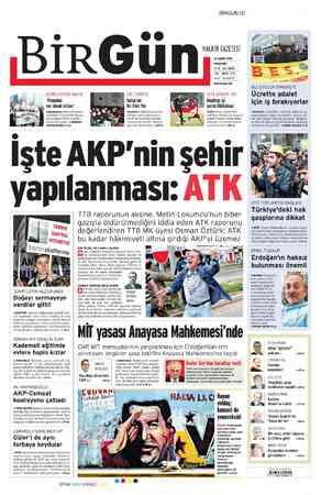 Birgün Gazetesi 23 Şubat 2012 kapağı