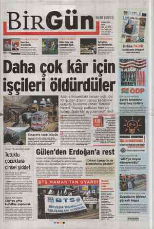 Birgün Gazetesi 26 Şubat 2012 kapağı