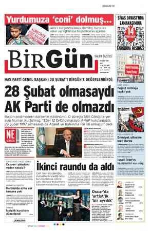 Birgün Gazetesi 28 Şubat 2012 kapağı