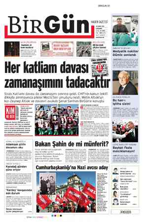 Birgün Gazetesi 29 Şubat 2012 kapağı