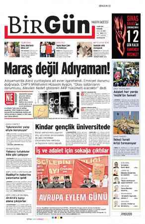 Birgün Gazetesi 1 Mart 2012 kapağı