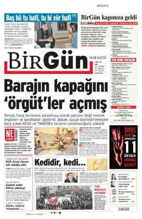 Birgün Gazetesi 2 Mart 2012 kapağı