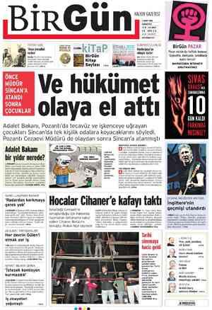 Birgün Gazetesi 3 Mart 2012 kapağı