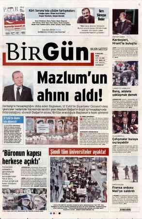"""BirGün, AZA P Süreyya Önder """"Bize karşı direnen iktidardır. Bunun aracısı bazen 100 bin liralık davalar olur bazen yalan..."""