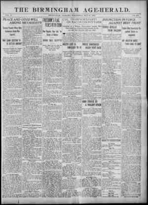 Birmingham Age Herald Gazetesi 21 Mayıs 1902 kapağı