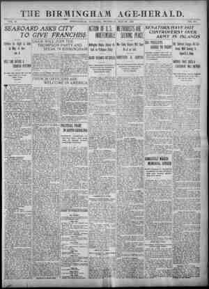 Birmingham Age Herald Gazetesi 22 Mayıs 1902 kapağı