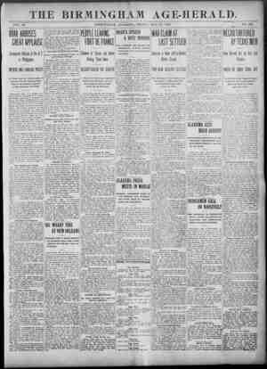 Birmingham Age Herald Gazetesi 23 Mayıs 1902 kapağı