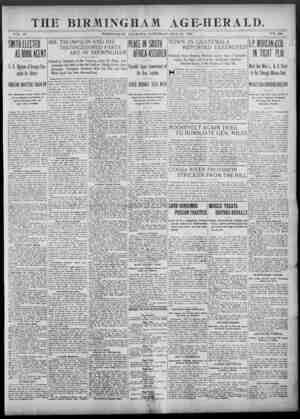 Birmingham Age Herald Gazetesi 24 Mayıs 1902 kapağı