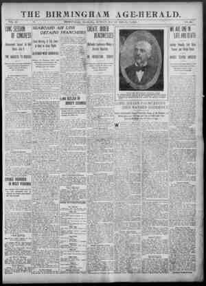 Birmingham Age Herald Gazetesi 25 Mayıs 1902 kapağı