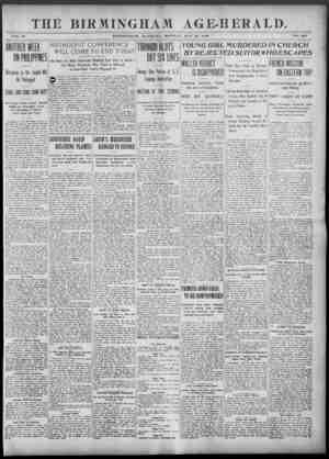 Birmingham Age Herald Gazetesi 26 Mayıs 1902 kapağı