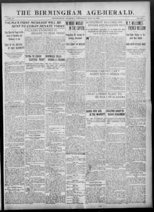 Birmingham Age Herald Gazetesi 28 Mayıs 1902 kapağı