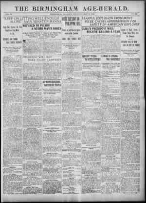 Birmingham Age Herald Gazetesi 29 Mayıs 1902 kapağı