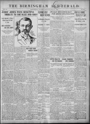 Birmingham Age Herald Gazetesi 31 Mayıs 1902 kapağı