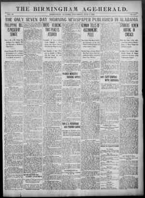 Birmingham Age Herald Gazetesi 4 Haziran 1902 kapağı