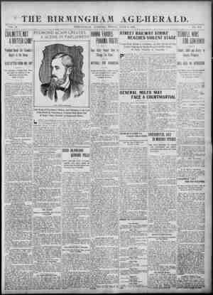 Birmingham Age Herald Gazetesi 6 Haziran 1902 kapağı