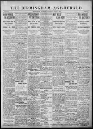 Birmingham Age Herald Gazetesi 7 Haziran 1902 kapağı