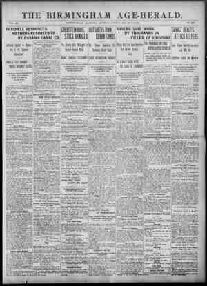 Birmingham Age Herald Gazetesi 8 Haziran 1902 kapağı
