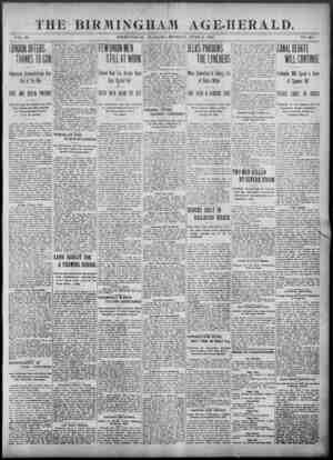 Birmingham Age Herald Gazetesi 9 Haziran 1902 kapağı