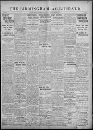 THE BIRMINGHAM AGE-HERALD. VOL. 29 BIRMINGHAM, ALABAMA, TUESDAY, APRIL 11,1903 NO. 346 DEPARTMENT 'iownment Will Shake Up...