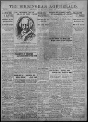 "THE BIRMINGHAM AGE-HErAlD. 4- — ■ — — ■■■■ - ■■ - .. ■ - ■ - - ■ - ■■ VOL. 30 BIRMINGHAM, ALABAMA, TUESDAY"", JUNE 30. 1903 1"