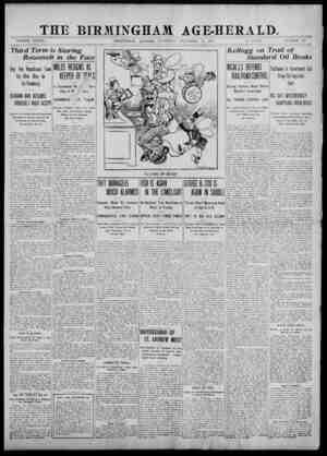 _THE BIRMINGHAM AGE-HERALD,_ VOLUME XXXvn j BIRMINGHAM, ALABAMA, SATURDAY, SEPTEMBER 28, 1907. 12 PAGES. NUMBER 145 Third...