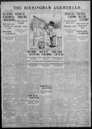 THE BIRMINGHAM AGE-HERALD._ VOLUME XXXVII. BIRMINGHAM, ALABAMA, SATURDAY, OCTOBER 12, 1907. 10 PAGES. NUMBER 159 - ----. .. .