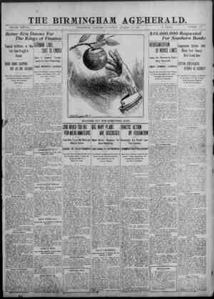 0 -• ) % _THE BIRMINGHAM AGE-HERALD.. VOLUME XS&VH, BIRMINGHAM, ALABAMA, SATURDAY, OCTOBER 20, 1907. 10 PAGES. NUMBER 173...