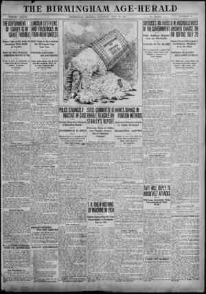 THE BIRMINGHAM. AGE-HERALD VOLUME XXXXH BIRMINGHAM, ALABAMA, SATURDAY, JULY 20, 1912 12 PAGES NUMBER 75 OF TURKEY IS IN GRAVE