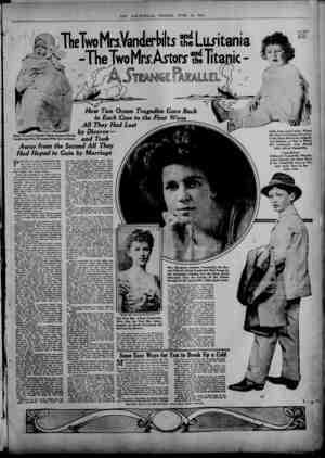 6y Divorce— Baby Alfred Vanderbilt Whose Hopes of Social ^ _ Leadership Were Wrecked With the Lusitania. CLTl U jO OR Away