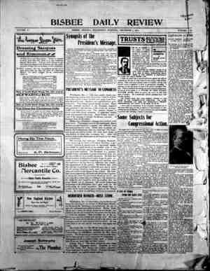 Bisbee Daily Review Gazetesi 4 Aralık 1901 kapağı