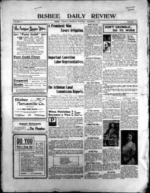Bisbee Daily Review Gazetesi 5 Aralık 1901 kapağı
