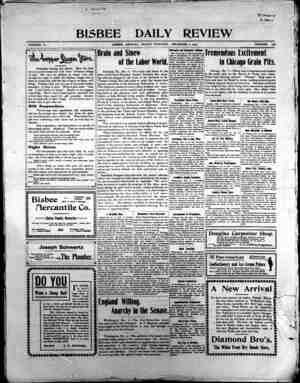 Bisbee Daily Review Gazetesi 6 Aralık 1901 kapağı