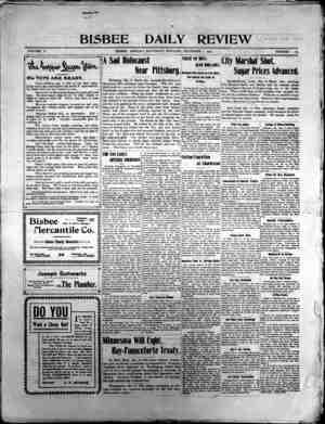 Bisbee Daily Review Gazetesi 7 Aralık 1901 kapağı