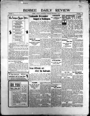 Bisbee Daily Review Gazetesi 11 Aralık 1901 kapağı
