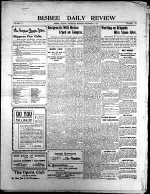 Bisbee Daily Review Gazetesi 12 Aralık 1901 kapağı