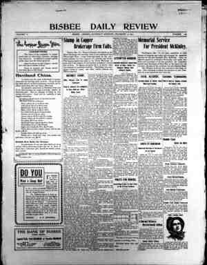 Bisbee Daily Review Gazetesi 14 Aralık 1901 kapağı