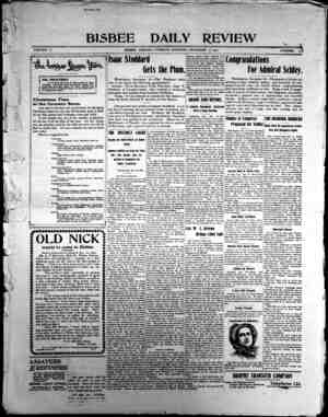 Bisbee Daily Review Gazetesi 17 Aralık 1901 kapağı