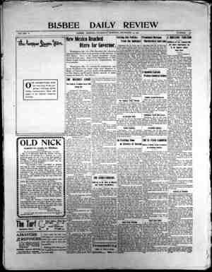 Bisbee Daily Review Gazetesi 19 Aralık 1901 kapağı