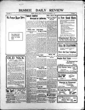 Bisbee Daily Review Gazetesi 20 Aralık 1901 kapağı