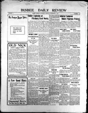 Bisbee Daily Review Gazetesi 21 Aralık 1901 kapağı