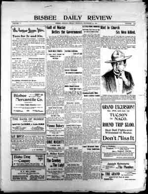 Bisbee Daily Review Gazetesi 27 Aralık 1901 kapağı