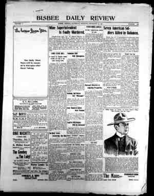 Bisbee Daily Review Gazetesi 28 Aralık 1901 kapağı