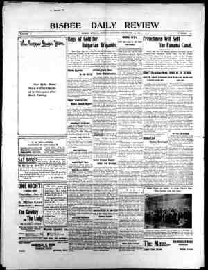 Bisbee Daily Review Gazetesi 29 Aralık 1901 kapağı