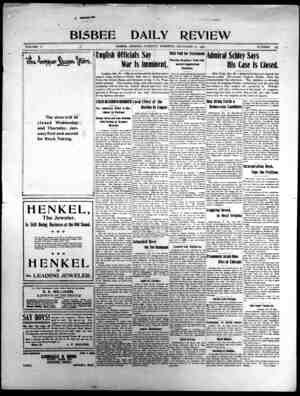 Bisbee Daily Review Gazetesi 31 Aralık 1901 kapağı