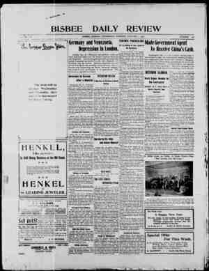 Bisbee Daily Review Gazetesi 1 Ocak 1902 kapağı