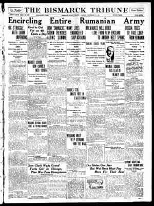 The Bismarck Tribune Gazetesi 21 Kasım 1916 kapağı