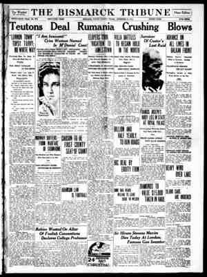 The Bismarck Tribune Gazetesi 24 Kasım 1916 kapağı