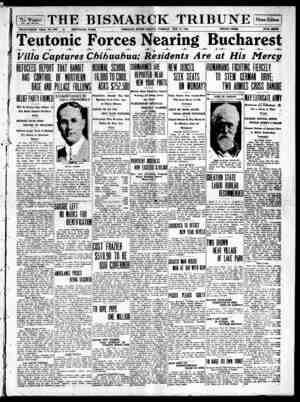 The Bismarck Tribune Gazetesi 27 Kasım 1916 kapağı