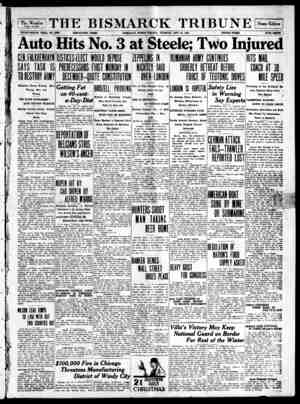 The Bismarck Tribune Gazetesi 28 Kasım 1916 kapağı